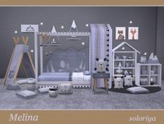 Kids Downloads - The Sims 4 Catalog Teen Bedroom Sets, Sims 4 Bedroom, Toddler Cc Sims 4, Sims Baby, Sims 4 Children, 4 Kids, Play Sims, Sims 4 Cc Finds, Sims 4 Custom Content