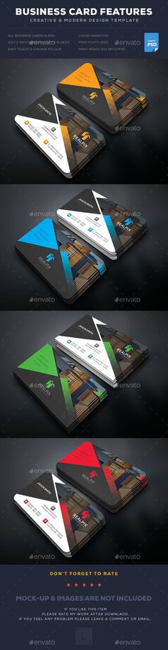Real Estate Business Card  — PSD Template #colors #blue • Download ➝ https://graphicriver.net/item/real-estate-business-card/18195457?ref=pxcr