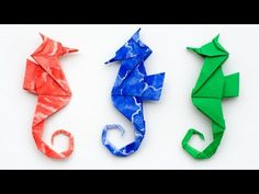 Origami Seahorse Instructions. How to make an Origami Seahorse - YouTube