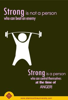Prophet (pbuh) said: The strong man is not the one who wrestles others; rather the strong man is the one who controls himself at times of anger. Islamic Quotes, Islamic Inspirational Quotes, Muslim Quotes, Religious Quotes, Islam Hadith, Islam Quran, Alhamdulillah, Wise Quotes, Great Quotes