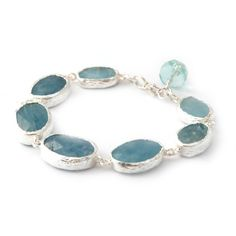 Aquamarine Silver Bracelet by toosis on etsy $155