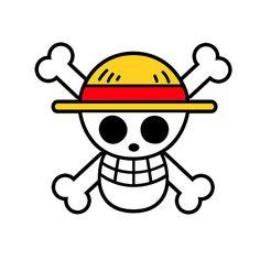 Camiseta One Piece. Calavera Pirata Jolly Roger Camiseta con la imagen de la calavera pirata perteneciente a la tripulación del Sombrero de paja, del manga-anime One Piece.