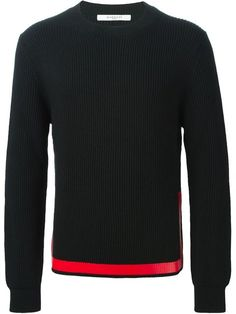 Shop Givenchy contrasting stripe sweater  in Vitkac