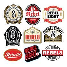 Various graphics created for from 2013 to present Typography Logo, Typography Design, Logo Branding, Branding Design, Lettering, Badges, Retro Logos, Vintage Logos, Badge Logo