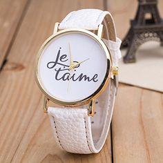 Vintage JETAIME Damen Armbanduhr Basel-Stil Quarzuhr Lederarmband Uhr Weiß - http://uhr.haus/better-dealz/weiss-vintage-jetaime-damen-armbanduhr-basel-uhr