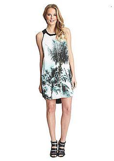 5c6aa72de6b  Palm Whimsy  Sleeveless Shift Dress available at