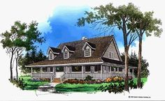 Eplans Farmhouse House Plan - A Country Feel - 2099 Square Feet and 3 Bedrooms from Eplans - House Plan Code HWEPL06916