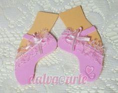 aplique sapatilha de bailarina(par)