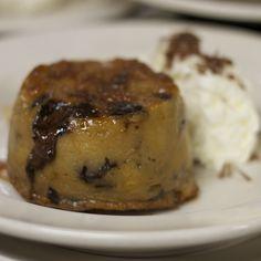 White Chocolate & Caramel Bread Pudding with dark chocolate chunks ...