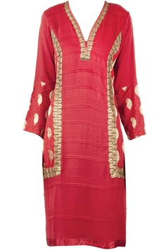 Red tunic with gold lace available only at Pernia's Pop-Up Shop.