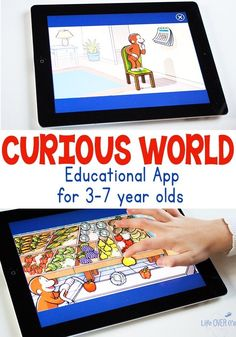 Curious World educational app for 3-7 year olds has so many different ways to learn! Math skills, learning to read and some fun stuff in there too!