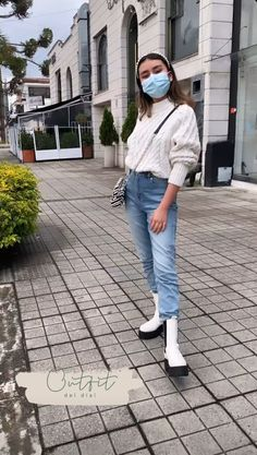 Oufits Casual, Casual Outfits, Outfits For Teens, Mom Jeans, Dress Up, Ootd, Clothes For Women, Chic, How To Wear