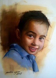 Retrato a Óleo do meu filho ,Vitor Pedro .