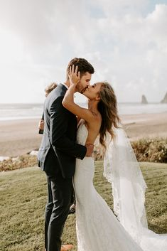 Cannon Beach Elopement with Ricamae and Jacob by Dawn Charles Photographer Barn Wedding Photos, Wedding Poses, Wedding Couples, Wedding Portraits, Boho Wedding, Wedding Ideas, Dream Wedding, Wedding Decorations, Bohemian Weddings