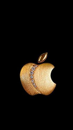 Apple Logo Wallpaper Iphone, Iphone Homescreen Wallpaper, Cellphone Wallpaper, Apple Background, Gold Aesthetic, Black Aesthetic Wallpaper, Gold Wallpaper, Pretty Wallpapers, Laura Lee