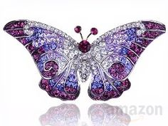 Shop a great selection of Alilang Empress Monarch Winged Butterfly Swarovski Crystal Rhinestone Brooch Pin. Find new offer and Similar products for Alilang Empress Monarch Winged Butterfly Swarovski Crystal Rhinestone Brooch Pin. Purple Jewelry, Rhinestone Jewelry, Crystal Rhinestone, Swarovski Crystals, Crystal Brooch, Swarovski Brooch, Charms Swarovski, Purple Necklace, Black Rhinestone