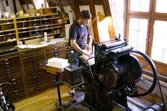 Papiermühle mit Mühlenrad