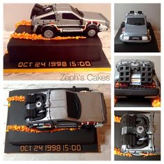 #zephscakes #back #to #the #future #cake #bttf #thedelorean #delorean…