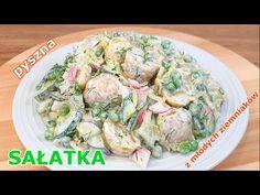 Najlepsza sałatka z młodych ziemniaków z porem i groszkiem 👌 taką sałatkę mogę jeść przez całe lato - YouTube Potato Salad, Salads, Potatoes, Ethnic Recipes, Youtube, Food, Potato, Essen, Meals