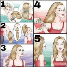 Simple layers for long hair