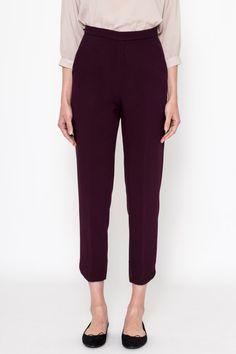 Cigarette pants Bordeaux / Slim fit pants/ pants/ by ComelyBop Slim Fit Pants, Size Model, Bordeaux, Vintage Outfits, Trousers, Things To Come, Actresses, Elegant, Fitness