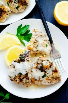 Crock Pot Creamy Lemon Chicken