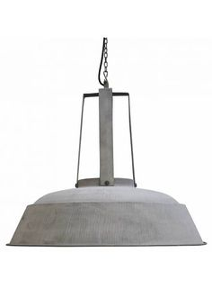 HK Living Lampe suspension industrielle rustique métal gris mat - Ø45 - HK Living