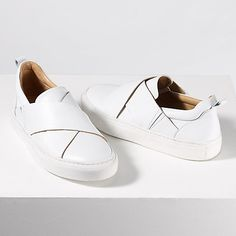 Buy Jigsaw Olivia Cross Strap Slip On Trainers Online at johnlewis.com