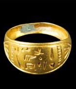 Hittite, golden ring inscribed with Hittite Luffic Hieroglyphic script  (Erdinç Bakla archive)