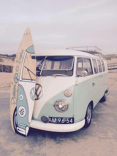 Surfboard personalised camper van wall art by DubtasticDesigns More