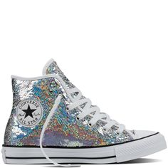 watch a12ed 9aa1b Chuck Taylor All Star Holiday Party Silver White Black silver white black