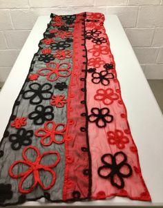 Nunofelted shawl, merino on silk chiffon, by Veerlaine