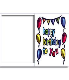 Postal de cumpleaños: Happy birthday to you. Adornos de globos de colores. www.fotoefectos.com