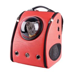 Really cute cat travel bag :)  My cats love it  U-pet Innovative Patent Bubble Pet Carriers -http://amzn.to/29dnM4b