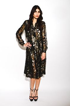 Need.. $2,000 :: rare vintage 1970's #Chanel haute couture metallic shirt dress collector's item