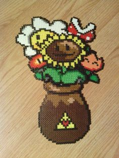 Perler Video Game Bouquet by ~devamon on deviantART