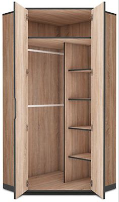 Delta Corner Wardrobe This 2 door Corner Wardrobe offers ample storage space and is an ideal solution for small rooms Fast Free Delivery with 5 to 7 days. Corner Wardrobe Closet, Wardrobe Design Bedroom, Diy Wardrobe, Wardrobe Storage, Closet Bedroom, Clothes Storage, Bedroom Storage Ideas For Clothes, Small Wardrobe, Modern Wardrobe