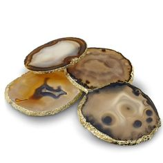 Agate Coasters with Rim, Set of 4 I William Sonoma I Decorative Accent