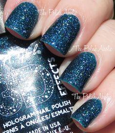 The PolishAholic: LA Girl 3D Effects: Brilliant Blue & Teal Dimension