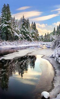 Winter Light - Truckee River