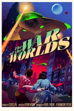 WAR OF THE WORLDS (1953) by Byron Haskin after H.G. Wells #scifi #AcademyAward for #Best #SpecialEffects #Oscarpic.twitter.com/jqgTfx6wgK Classic Sci Fi Movies, Classic Movie Posters, Horror Movie Posters, Movie Poster Art, Film Science Fiction, Images Star Wars, Movies And Series, Fantasy Films, Alternative Movie Posters