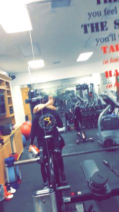 Demi and Wilmer in their work out studio on snapchat Saturday 27th February