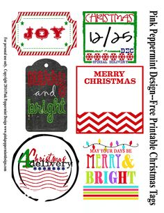 Free Printable: Christmas Gift Tags - Entertain | Fun DIY Party Craft Ideas