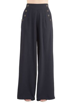1940s style wide leg pants - Every Opportunity Pants in Navy