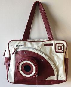 5e374f1a57 Photo-matic serendipity camera bag red white vintage tote shoulder handbag