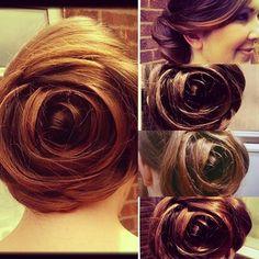 Des sculptures capillaires en forme de rose : | 17 choses incroyables que vous pouvez faire avec vos cheveux