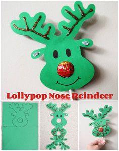 DIY Lollypop Nose Reindeers