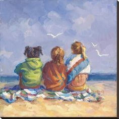 Buy online, view images and see past prices for LUCELLE RAAD - SUMMER'S END. Invaluable is the world's largest marketplace for art, antiques, and collectibles. Watercolor Pictures, Watercolor Art, Watercolour Paintings, Acrylic Paintings, Painting Prints, Art Prints, Square Art, Canvas Paper, Beach Art