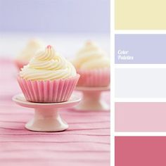 The palette strikes with its play of colors and color combinations. Everything is very rich, but not annoying. Pastel Colour Palette, Colour Pallette, Pink Color, Color Combinations, Pale Pink, Pink Purple, Room Color Schemes, Room Colors, Colours