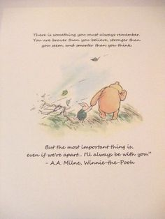Always Remember Winnie the Pooh Quote by prettypetalspaper, $6.00: